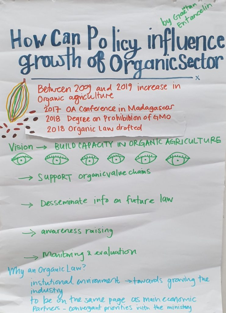 How can policies influence growth Organic sector